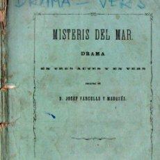 Libros antiguos: VANCELLS Y MARQUÉS : MISTERIS DEL MAR (GASPAR, 1867) EN CATALÁN. Lote 144502198