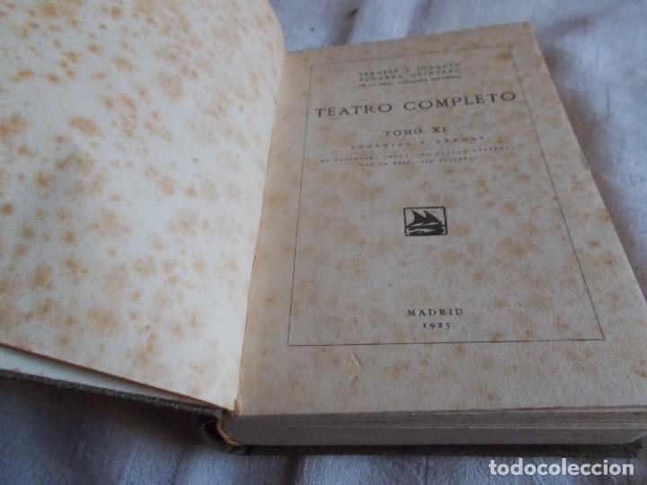 Libros antiguos: ÁLVAREZ QUINTERO Teatro Tomo XI - Foto 4 - 145951058