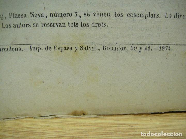 Libros antiguos: quadros de costums catalanas - la festa del barrí - serafi pitarra - año 1874 - Foto 2 - 146632226