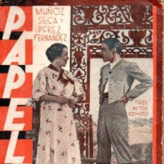 Libros antiguos: MUÑOZ SECA - PEREZ FERNANDEZ : PAPELES (LA FARSA, 1935). Lote 146734590