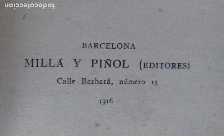 Libros antiguos: BAJO LOS MIRTOS. JOAQUIN DICENTA.MILLÁ Y PIÑOL 1916. - Foto 3 - 148996098