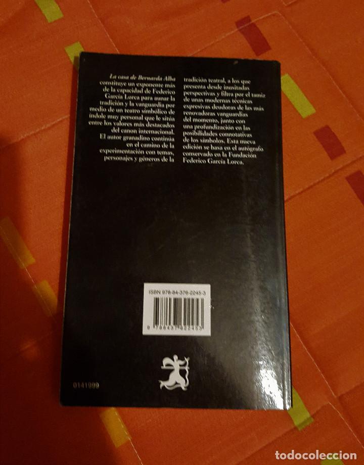 Libros antiguos: La Casa de Bernarda Alba Ed. de Mª Francisca Vilches de Frutos - Catedra Letras Hispanicas - Foto 2 - 149616338