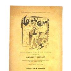 Libros antiguos: LO MEU CRIAT LAMBERT ESCALER 1897 DEDICATÒRIA AUTÒGRAFA A L'ACTOR BARCELÓ. Lote 149717842