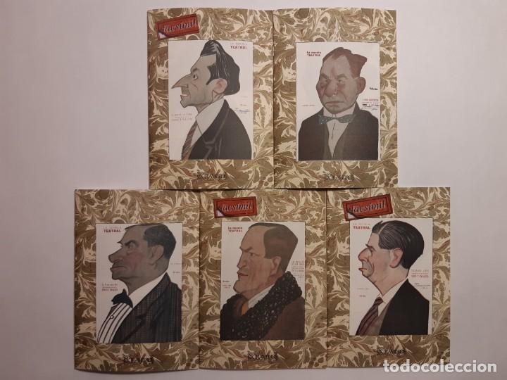 6 FACSÍMILES DE FOLLETOS DE OBRAS DE TEATRO (1919-1921). NOVELA TEATRAL DE GUILLERMO PERRÍN (Libros antiguos (hasta 1936), raros y curiosos - Literatura - Teatro)