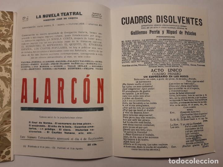 Libros antiguos: 6 facsímiles de folletos de obras de teatro (1919-1921). Novela teatral de Guillermo Perrín - Foto 2 - 152482802