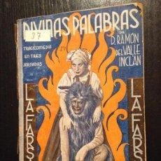 Libros antiguos: DIVINAS PALABRAS-DAN RAMON DEL VALLE INCLAN. Lote 152672826