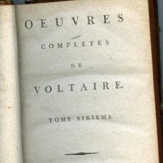 Libros antiguos: VOLTAIRE, OEUVRES COMPLETES, THEATRE, TOME 6, 1785. Lote 152890594
