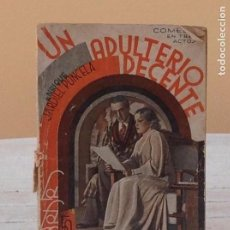 Libros antiguos: ENRIQUE JARDIEL PONCELA: UN ADULTERIO DECENTE. Lote 153891410