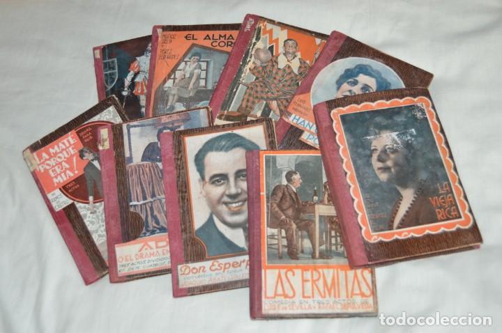 VINTAGE - LOTE DE 9 LIBROS / LIBRITOS - LA FARSA, ED. ESTAMPA - PRINCIPIOS SIGLO PASADO - ENVÍO24H (Libros antiguos (hasta 1936), raros y curiosos - Literatura - Teatro)