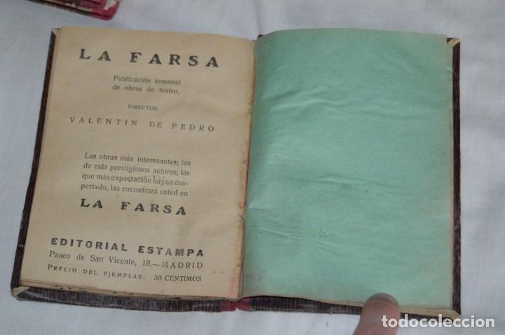 Libros antiguos: VINTAGE - LOTE DE 9 LIBROS / LIBRITOS - LA FARSA, ED. ESTAMPA - PRINCIPIOS SIGLO PASADO - ENVÍO24H - Foto 17 - 154025714