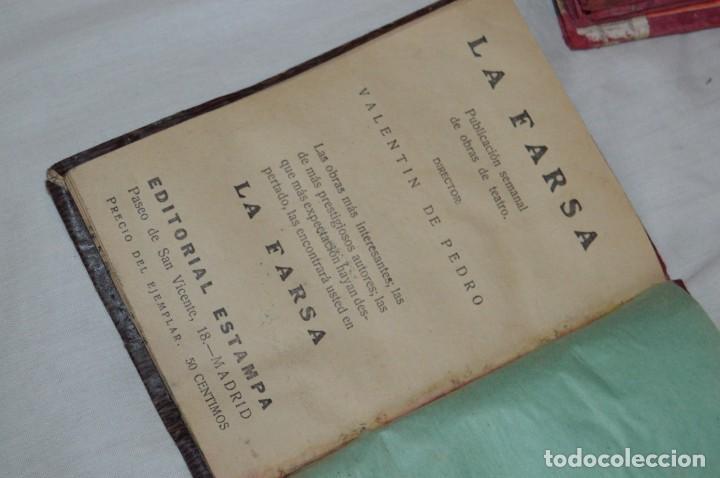 Libros antiguos: VINTAGE - LOTE DE 9 LIBROS / LIBRITOS - LA FARSA, ED. ESTAMPA - PRINCIPIOS SIGLO PASADO - ENVÍO24H - Foto 18 - 154025714