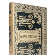 Libros antiguos: 1884 - COMEDIAS ESCOGIDAS DE FRANCISCO DE ROJAS ZORRILLA - ENCUADERNACIÓN MODERNISTA DE J. VILASECA. Lote 154682106
