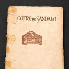 Libros antiguos: J.M. LAGO : COFRE DE SANDALO : PRIMERA EDICION - 1927. Lote 155657802