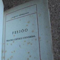 Libros antiguos: TEATRO CRÍTICO UNIVERSAL. TOMO I. FEIJÓO (FRAY BENITO JERÓNIMO). Lote 156506482