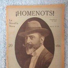 Libros antiguos: LA NOVEL.LA NOVA N.º 79. ¡HOMENOTS! COMEDIA EN UN ACTE - LAMBERT ESCALER. Lote 157652782