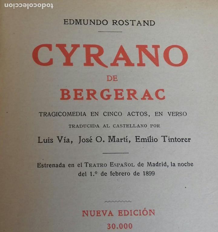 Libros antiguos: CYRANO DE BERGERAC. E. ROSTAND. BARCELONA 1928. - Foto 2 - 160307990