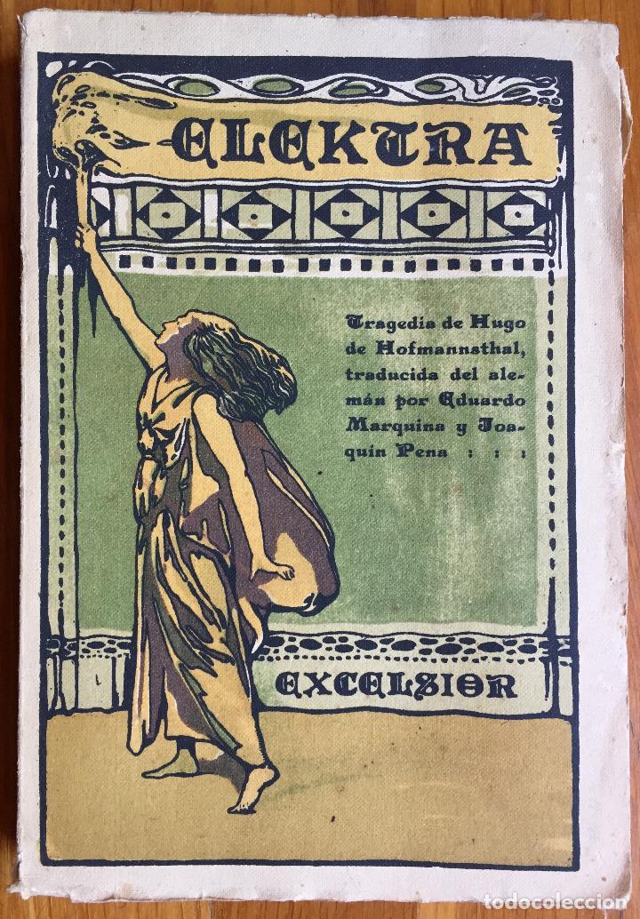 HOFMANNSTHAL : ELEKTRA (C. 1912) MARGARITA XIRGU (Libros antiguos (hasta 1936), raros y curiosos - Literatura - Teatro)