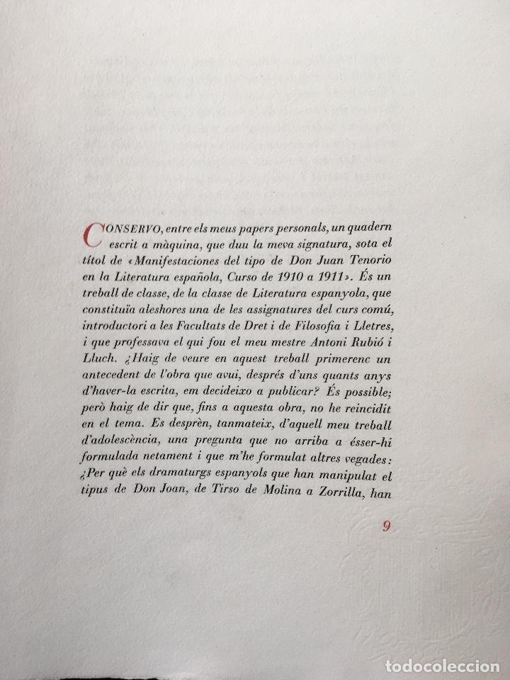 Libros antiguos: DON JUAN - FERRAN SOLDEVILA - ILUSTA GRAU SALA - EDICION LIMITADA Y NUMERADA - coleccionistas - Foto 9 - 160696126