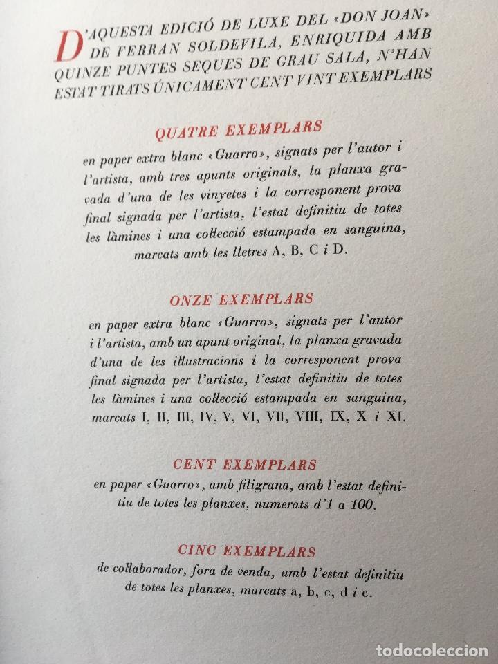 Libros antiguos: DON JUAN - FERRAN SOLDEVILA - ILUSTA GRAU SALA - EDICION LIMITADA Y NUMERADA - coleccionistas - Foto 18 - 160696126
