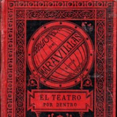 Libros antiguos: MOYNET : EL TEATRO POR DENTRO - MAQUINARIA Y DECORACIONES (MARAVILLAS, 1885). Lote 163948630