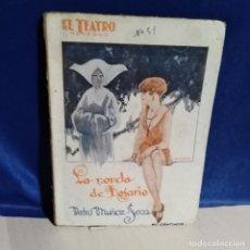 Libros antiguos: LA NOVELA DE ROSARIO, 1927 - PEDRO MUÑOZ SECA - TEATRO MODERNO - ED. PRENSA MODERNA MADRID. Lote 165785238