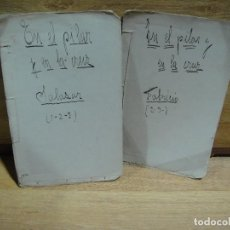 Libros antiguos: EN EL PILAR Y EN LA CRUZ - LIBRETOS MANUSCRITOS DE LOS PERSONAJES - FECHADOS EN MANILA 10 - 12 - 20. Lote 166228126