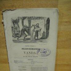 Libros antiguos: OBRA DE TEATRO VANDA - AUTOR JULIAN NIEMCEWICZ. Lote 166592018