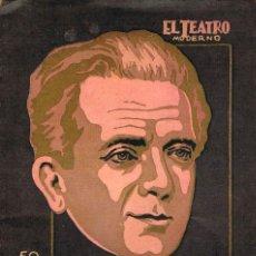 Libros antiguos: SASSONE - LA VIDA SIGUE, COLECCIÓN EL TEATRO MODERNO Nº 152 (AÑO 1928). Lote 167011568