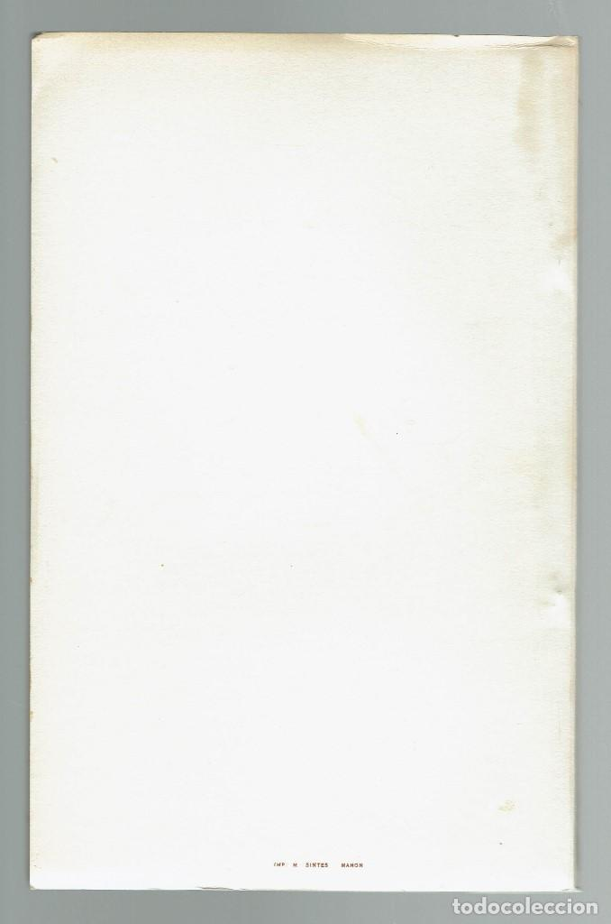 Libros antiguos: COMEDIA MENORQUINA DE LA INVENCIO DE NOSTRA SENYORA DEL TORO. AÑO 1934. (MENORCA.2.4) - Foto 2 - 168136524