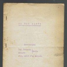 Libros antiguos: ES DOS SORTS. MECANOGRAFIADO. AÑO ¿? (MENORCA.2.4). Lote 168185716