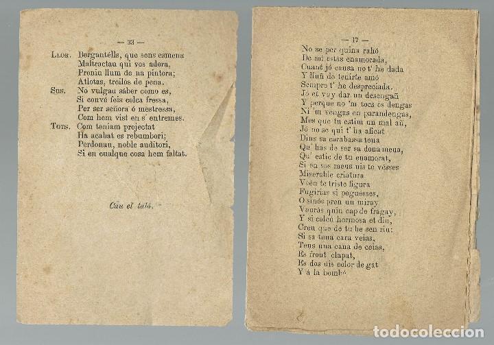 Libros antiguos: ENTREMESES D'EN LLORENS MAL CASADÍS Y NA SUSAINE D'ES FIL ARREGLAT PER NOU ESTIL. 1883 (MENORCA.2.4) - Foto 2 - 168318404