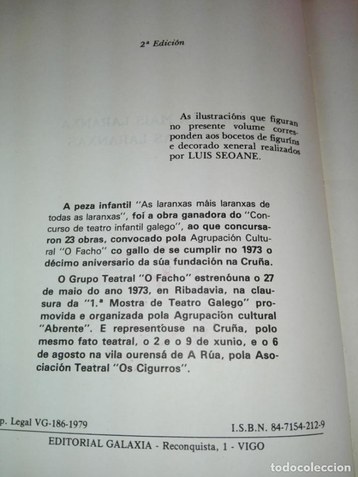 Libros antiguos: LIBRO-AS LARANXASMAIS LARANXAS DE TODAS AS LARANXAS.CARLOS CASARES-ED.GALAXIA-2ªEDICIÓN-1979- - Foto 4 - 168759068
