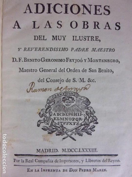 Libros antiguos: TEATRO CRITICO / GERONIMO FEIJOO / 1777-1783-1778-1774 / 7 TOMOS - Foto 12 - 168825748