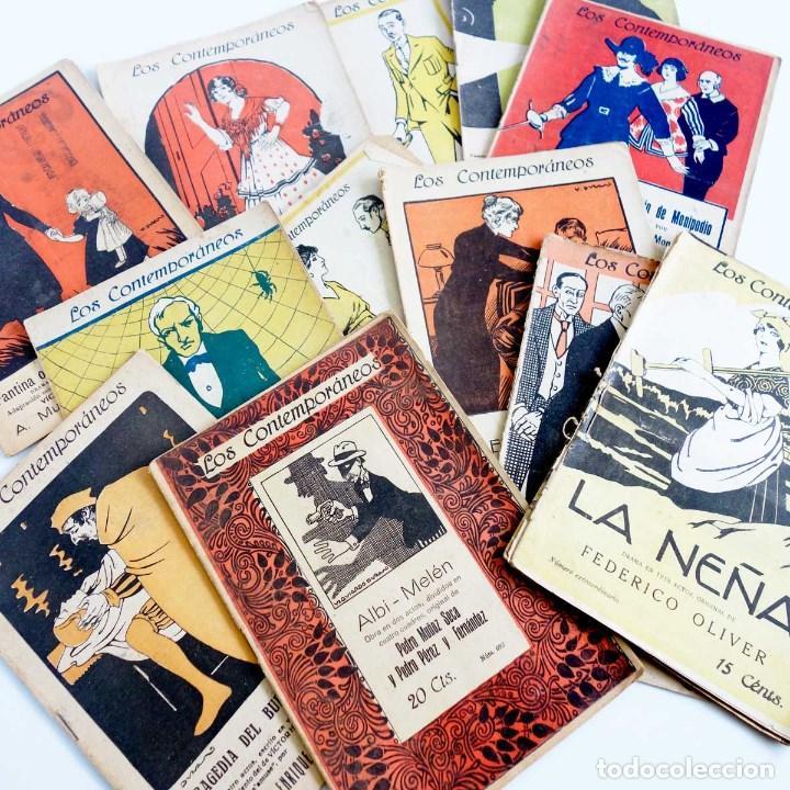 LOTE 16 LIBRETOS LOS CONTEMPORÁNEOS. AÑOS 1919-1922 (Libros antiguos (hasta 1936), raros y curiosos - Literatura - Teatro)