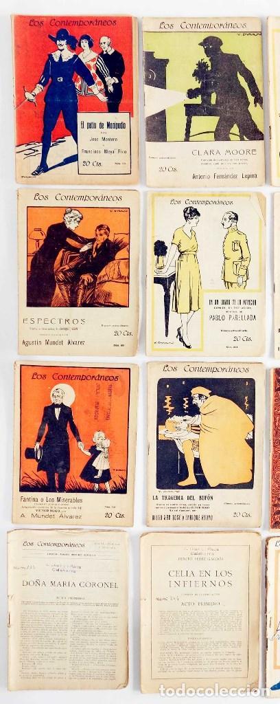 Libros antiguos: LOTE 16 LIBRETOS LOS CONTEMPORÁNEOS. AÑOS 1919-1922 - Foto 3 - 168981132