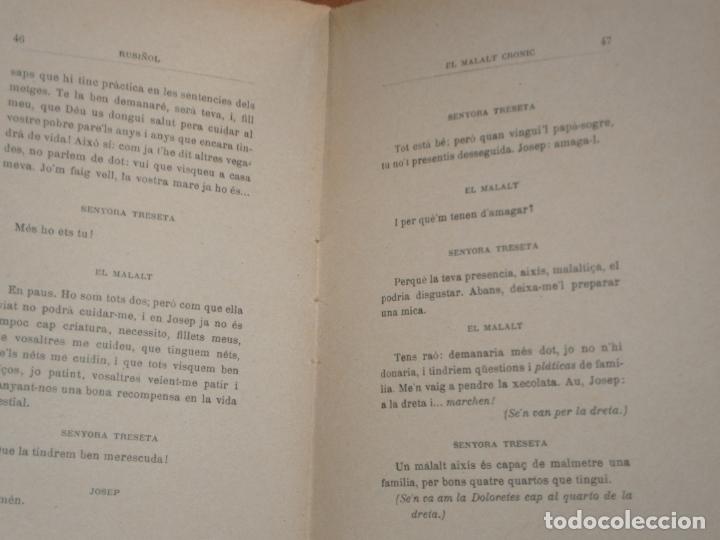 Libros antiguos: EL MALALT CRONIC. COMEDIA EN UN ACTE. SANTIAGO RUSIÑOL. CATALÀ - Foto 2 - 169323712
