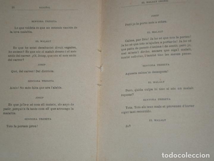 Libros antiguos: EL MALALT CRONIC. COMEDIA EN UN ACTE. SANTIAGO RUSIÑOL. CATALÀ - Foto 8 - 169323712