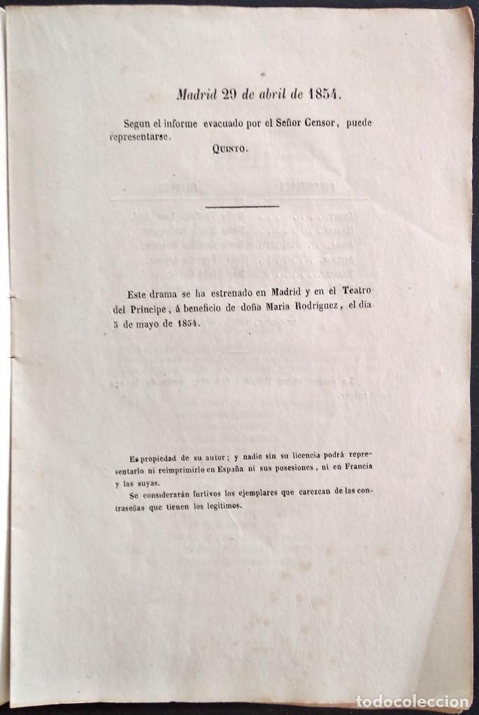 Libros antiguos: JUDIT - JOAQUÍN JOSÉ CERVINO - DRAMA HISTÓRICO - MADRID, IMPRENTA DE FRANCISCO ABIENZO AÑO 1854 - Foto 4 - 169422408