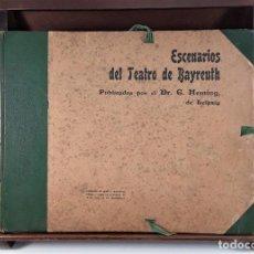 Libros antiguos: ESCENARIOS DEL TEATRO DE BAYREUTH. G. HEMING. LIB. C. MARTÍNEZ. BARCELONA. S/F.. Lote 170284284