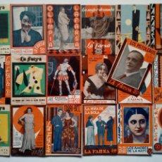 Libros antiguos: (1930 - 1931) LA FARSA - LOTE 19 REVISTAS DE TEATRO - OBRAS TEATRALES -. Lote 170399420