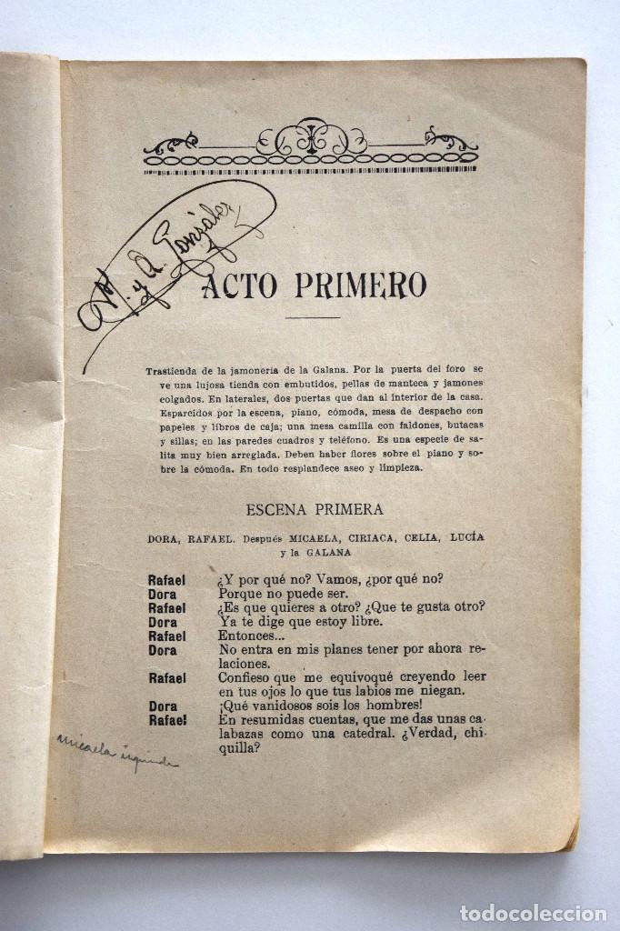 Libros antiguos: LA GALANA - PILAR MILLÁN ASTRAY - SOCIEDAD DE AUTORES ESPAÑOLES, MADRID 1926 - CON ANOTACIONES - Foto 4 - 170425176