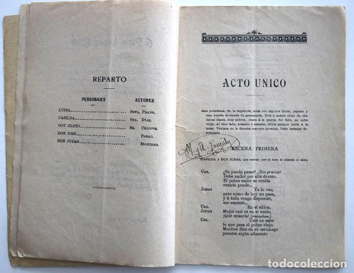 Libros antiguos: LA NIETA DE SU ABUELO - ÁNGEL CAAMAÑO - JUGUETE CÓMICO-LÍRICO - SOCIEDAD DE AUTORES ESPAÑOLES 1914 - Foto 4 - 170427912