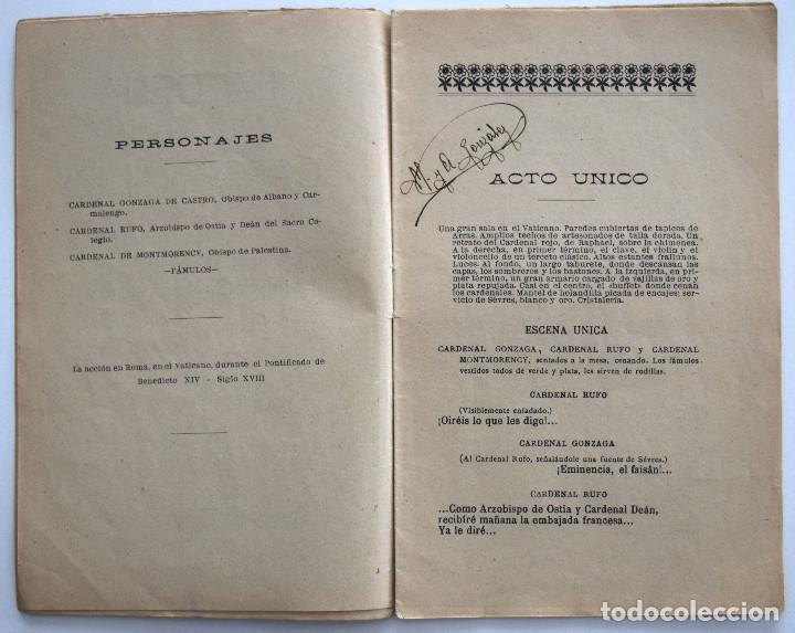 Libros antiguos: LA CENA DE LOS CARDENALES - JULIO DANTAS - SOCIEDAD DE AUTORES ESPAÑOLES MADRID 1913 - Foto 4 - 170428116