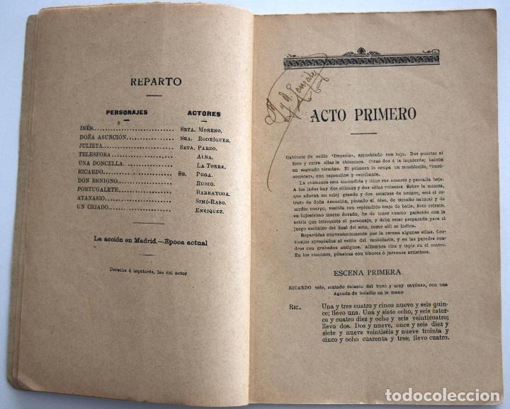 Libros antiguos: MI CARA MITAD - MIGUEL RAMOS CARRIÓN - SOCIEDAD DE AUTORES ESPAÑOLES MADRID 1908 - Foto 4 - 170428348