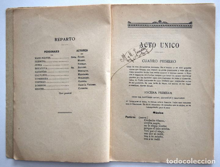 Libros antiguos: MARI-NIEVES - PEDRO MUÑOZ SECA - SOCIEDAD DE AUTORES ESPAÑOLES MADRID 1911 - LIBRETO ZARZUELA - Foto 4 - 170428732