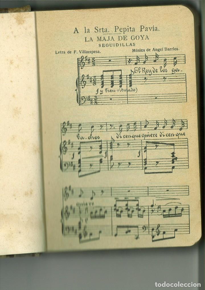 Libros antiguos: LA MAJA DE GOYA. DRAMA EN TRES ACTOS. Francisco Villaespesa - Foto 3 - 171406388