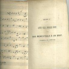 Libros antiguos: 31.- PALMA DE MALLORCA - TEATRE - CONTES VELLS, BARALLES NOVES O SIA DOS MENESTRALS A UN BROT OPUSCL. Lote 171729619
