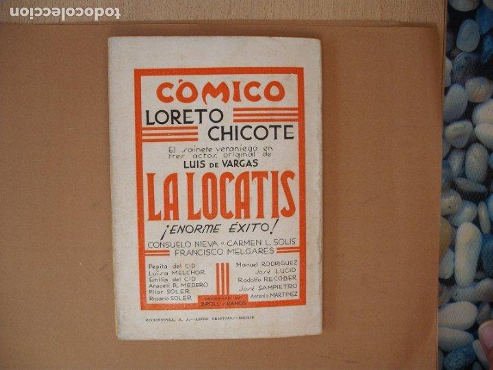 Libros antiguos: LA FARSA- LA LOCATIS, LUIS DE VARGAS.Nº 270- AÑO 1932 - Foto 3 - 173108147