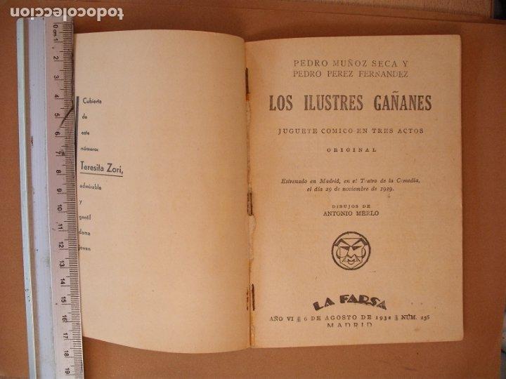 Libros antiguos: LA FARSA.LOS ILUSTRES GAÑANES,MUÑO SECA Y PEREZ FERNANDEZ .Nº 256- AÑO 1932 - Foto 2 - 173178694