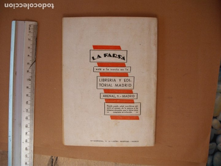 Libros antiguos: LA FARSA. MAMA ILUSTRE, ENRIQUE SUAREZ DE DEZA .Nº 253- AÑO 1932 - Foto 3 - 173182322